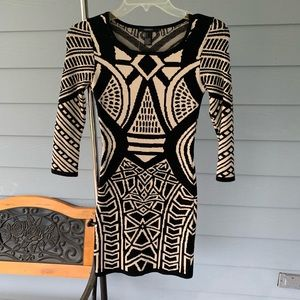 Fitted black & Cream Dress
